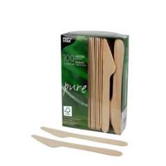 Nože dřevěné 16,5cm 100ks