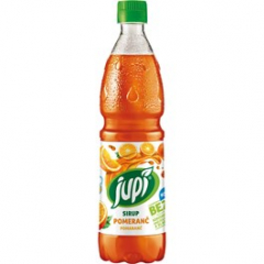 Sirup Jupí pomeranč 700ml pet /6ks