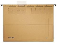 Závěsné desky Leitz ALPHA® s bočnicemi, hnědá 25ks