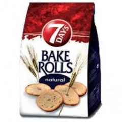 7Days Bake Rolls Křupavé chipsy Natural 80g