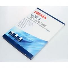 Etikety kancelářské 70x36mm bílé 100 listů