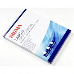 Etikety kancelářské 48,5x25,4mm bílé 100 listů