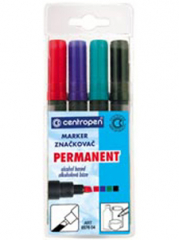 Centropen Permanentní 8576 mix barev sada 4ks