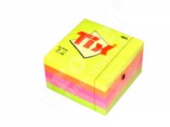 Samolepící bloček 76x76mm 5x90listů neon