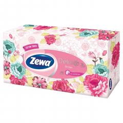 Zewa Deluxe cotton kapesníky 3-vrstvé box 90ks