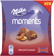 Milka Moments Almond Caramel mini 96g
