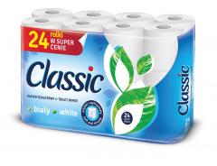 Classic Toaletní papír 2vrstvý bílý 24ks