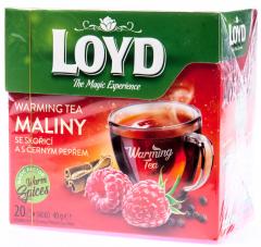Loyd Warming Tea malina/skořice/černý pepř 20x2g