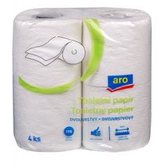 ARO Toaletní papír 2-vrstvý bílý 4ks