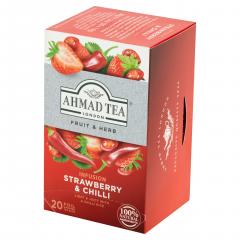 Ahmad Tea Čaj bylinný jahoda s chilli 20x1,8g