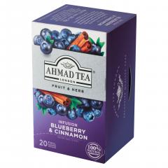 Ahmad Tea Infusion Ovocno-bylinná směs borůvka&skořice 20x2g