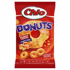 Chio Donuts Kukuřičný snack s arašídy a příchutí karamelu 80g