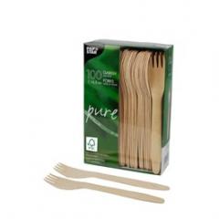 Vidličky dřevěné 16,5cm 100ks