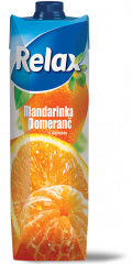 Relax mandarinka a pomeranč s dužinou 1l