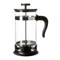 Konvice na čaj/kávu, sklo, nerezavějící ocel 1l