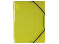 Desky A4 s gumičkou 3 chlopně žluté