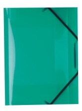 Desky A4 s gumičkou 3 chlopně zelené