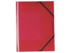 Desky A4 s gumičkou 3 chlopně červené