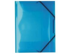 Desky A4 s gumičkou 3 chlopně modré