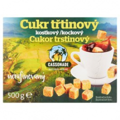 Cassonade Cukr třtinový kostky 500g