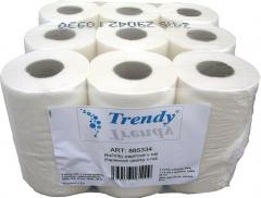 Utěrka /Ručník papírový TRENDY 2 vrstvy, bílý,  9 rolí