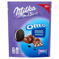 Milka Oreo minis Original v mléčné čokoládě 153g