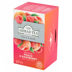 Ahmad Tea Čaj bylinný malina/ broskev 20x1,8g
