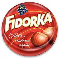 Opavia Fidorka s oříškovou náplní hořká 30g